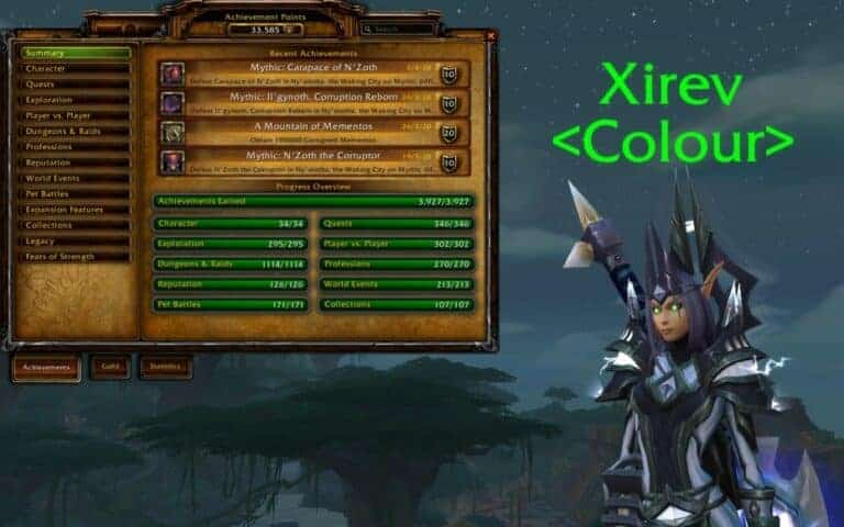 Xirev Earns Every Battle for Azeroth Achievement 1