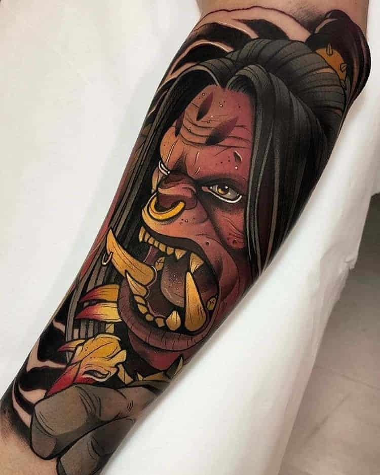60+ WoW Tattoo Ideas - The Best World of Warcraft Tattoos 5