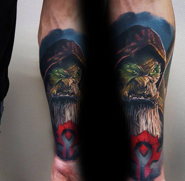 Guldan Forearm Tattoo