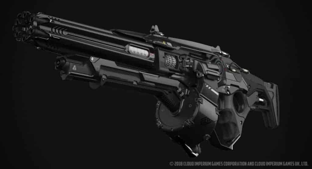 The gun design in Star Citizen is very impressive