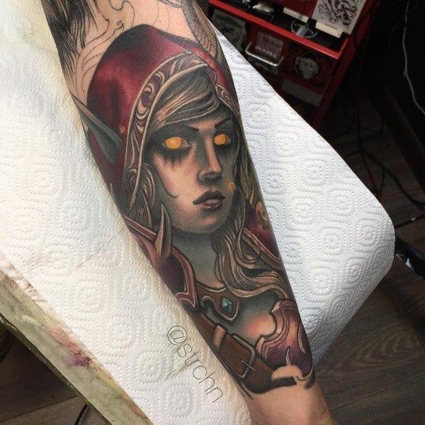 Sylvanas Windrunner Tattoo