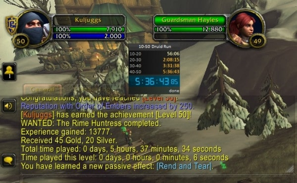 Shadowlands Alpha speed leveling record