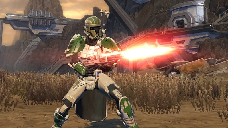 Swtor has a wide range of available blaster rifles and guns