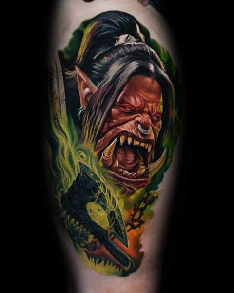 60+ WoW Tattoo Ideas - The Best World of Warcraft Tattoos 28