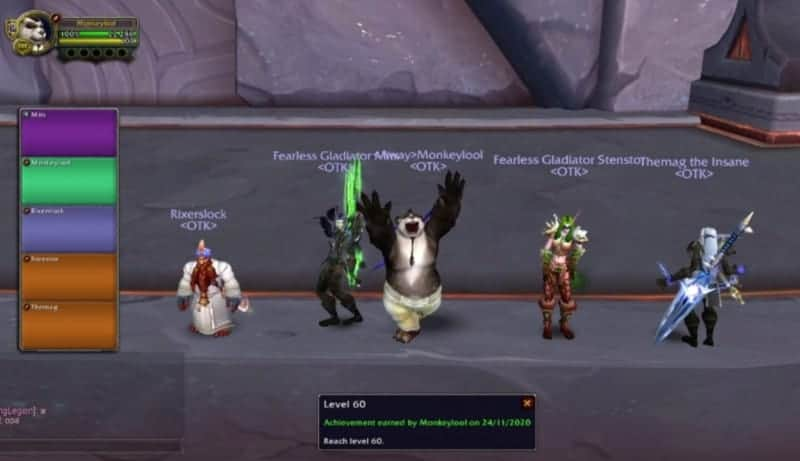 Monkeylool of EU-Al'akir Wins The Title of World First Level 60 In Shadowlands 1