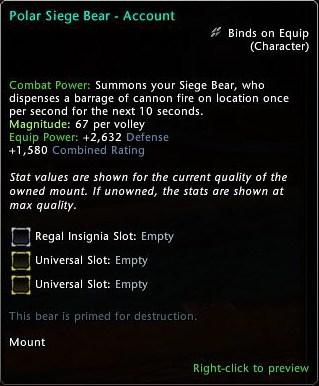 Neverwinter: New Lockbox And New Polar Siege Bear Mythic Mount 2