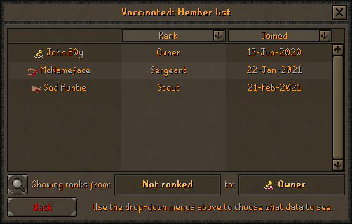 OSRS Update On Clans