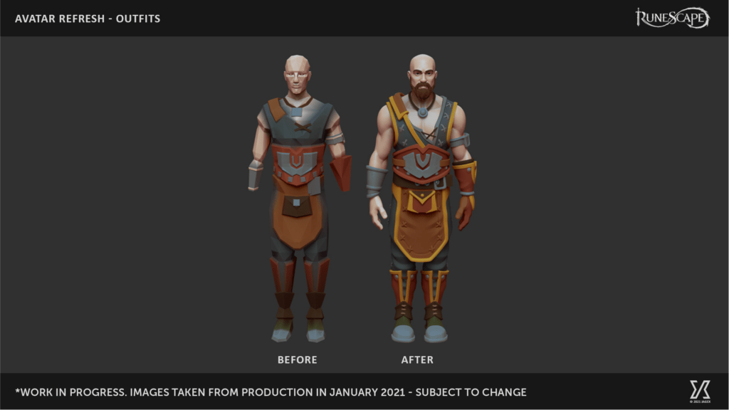 Get a Closer Look At The New Runescape Avatar Models 1