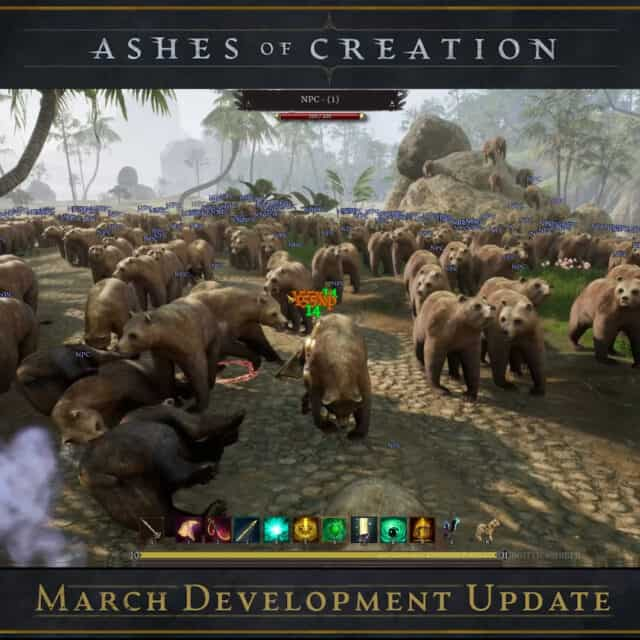 Ashes of Creation Team Fights More Than 1000 Bears In March Update