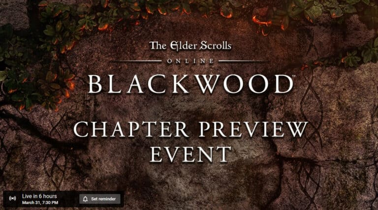 The Elder Scrolls Online Blackwood Preview Event Later Today 1