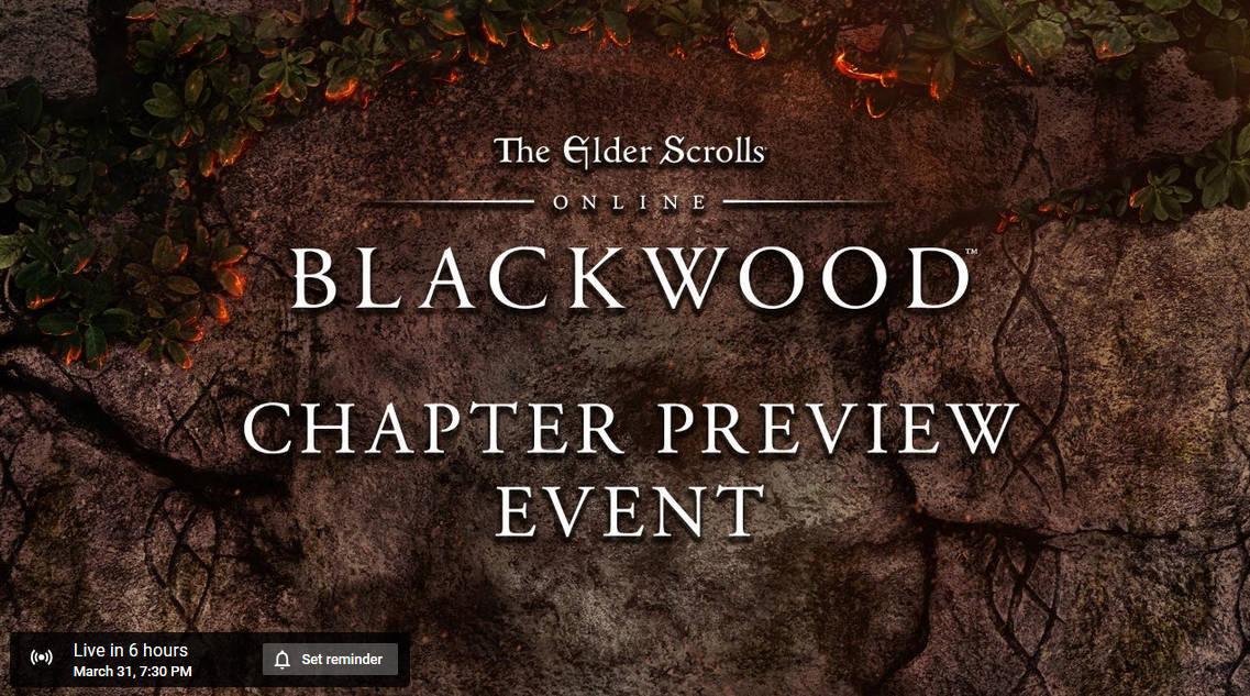 The Elder Scrolls Online Blackwood Preview Event Later Today