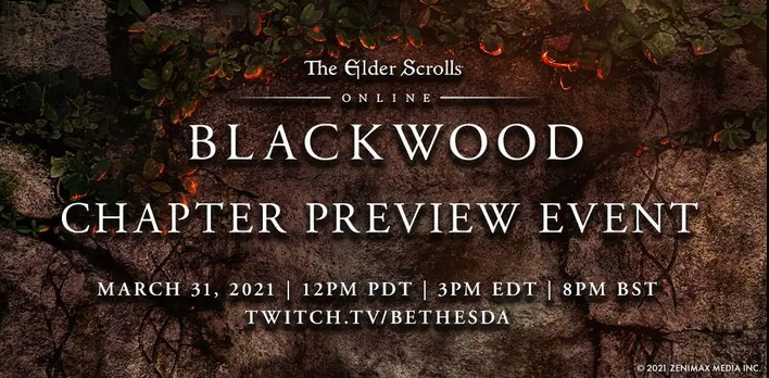 Watch The ESO Blackwood Preview Event On March 31st 15