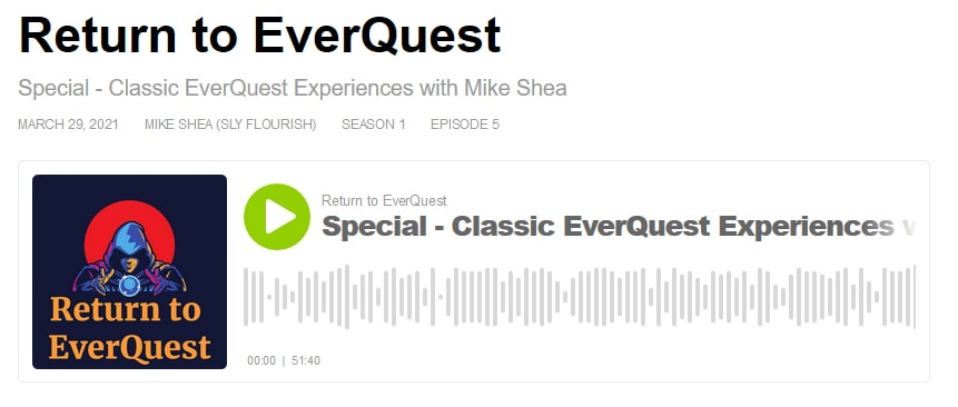 "Everquest Podcast ""Return To Everquest"" Talks D&D And Old-School EQ Memories With Mike Shea aka Sly Flourish"