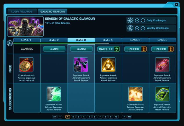 SWTOR Introduce Galactic Seasons 1