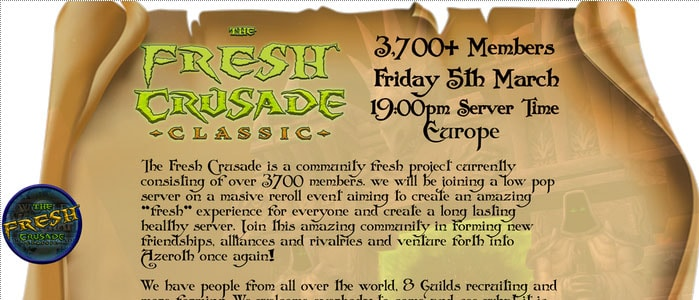 WoW Classic Players Create A 'Fresh Start Server' In Time For THe Burning Crusade
