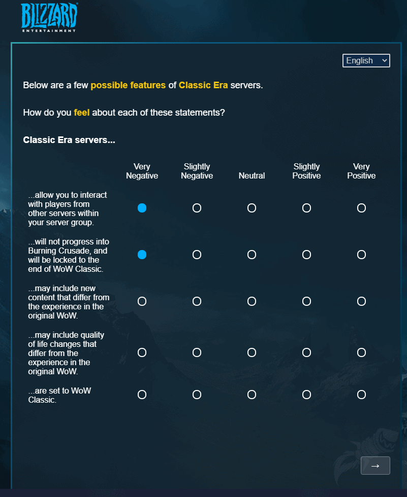 Blizzard Sends Out Survey Related To The Future Of Classic WoW 3