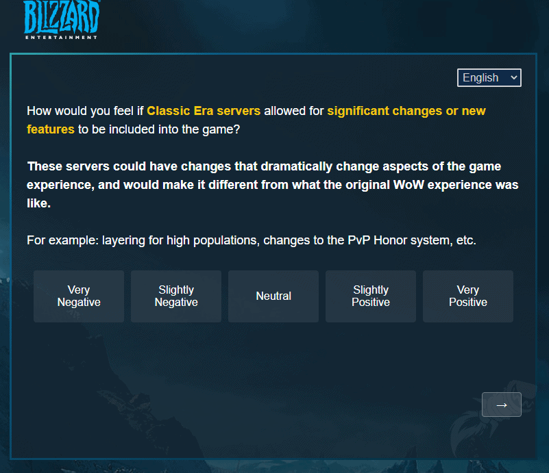 Blizzard Sends Out Survey Related To The Future Of Classic WoW 4
