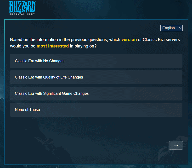 Blizzard Sends Out Survey Related To The Future Of Classic WoW 5