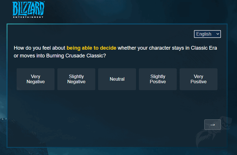 Blizzard Sends Out Survey Related To The Future Of Classic WoW 6