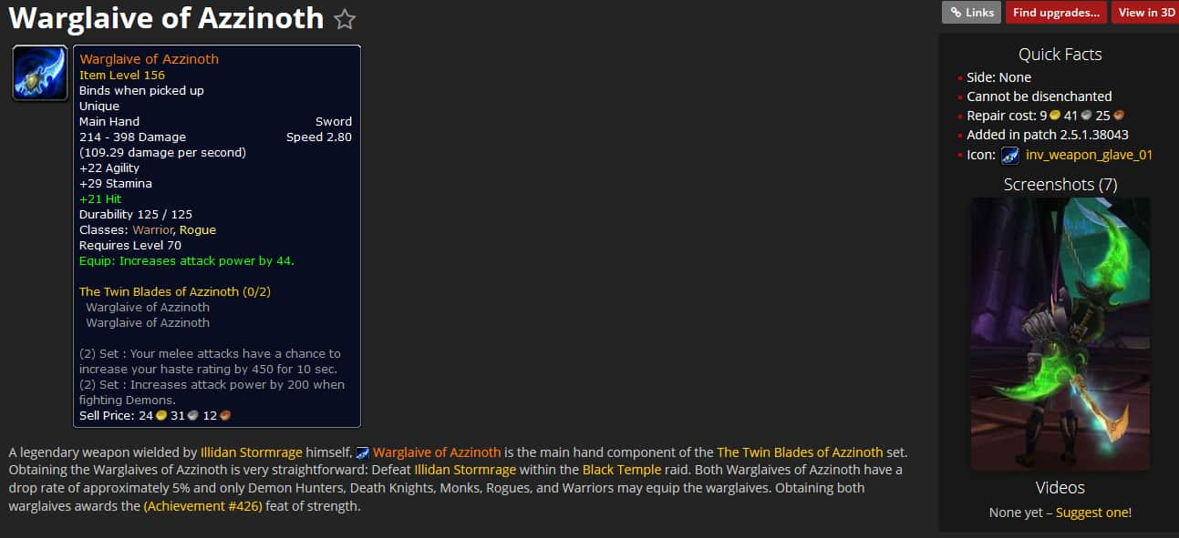 WoWHead Has Been Updated For The Burning Crusade 2