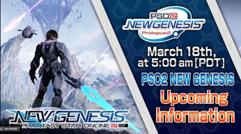 Phantasy Star Online 2: New Genesis Info Coming March 18th 1