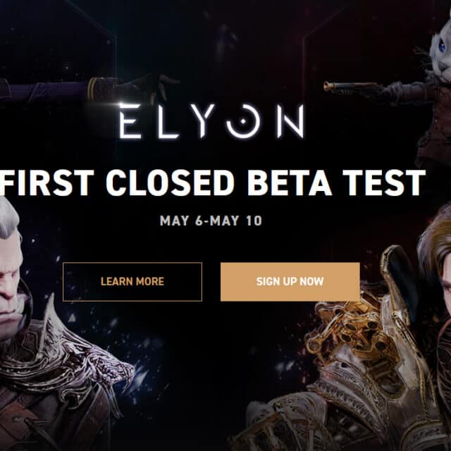 Elyon's Western Closed Beta Starts May 6th - Reddit AMA April 14th