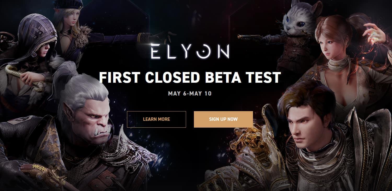 Elyon's Western Closed Beta Starts May 6th - Reddit AMA April 14th 2
