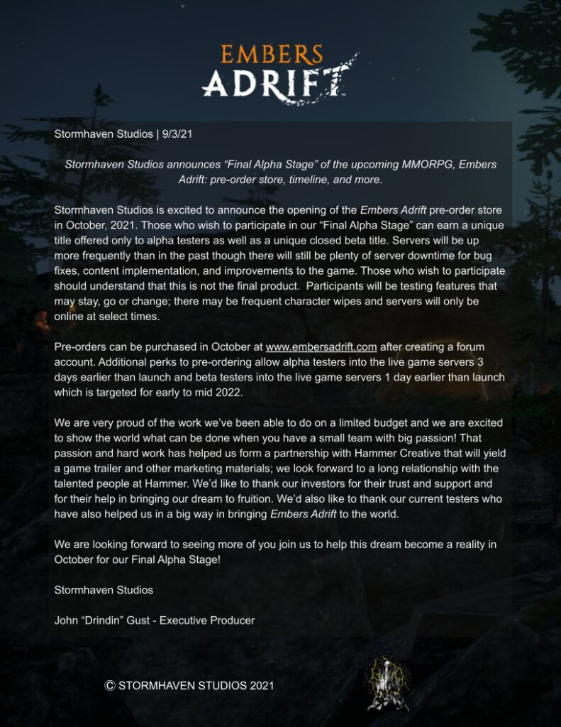 Embers Adrift Will Open Pre-Orders In October And Targets Launch For 2022 1