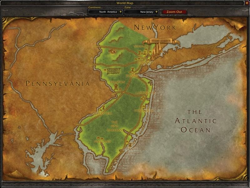 Fan Creates WoW Style U.S. State Maps 2