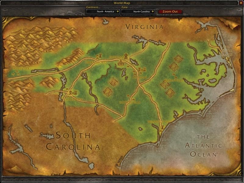 Fan Creates WoW Style U.S. State Maps 9