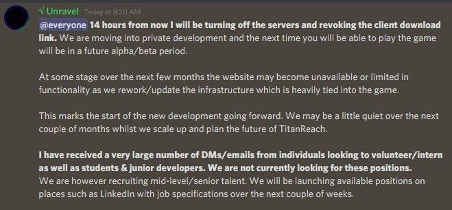 TitanReach Moves Into Private Development 1