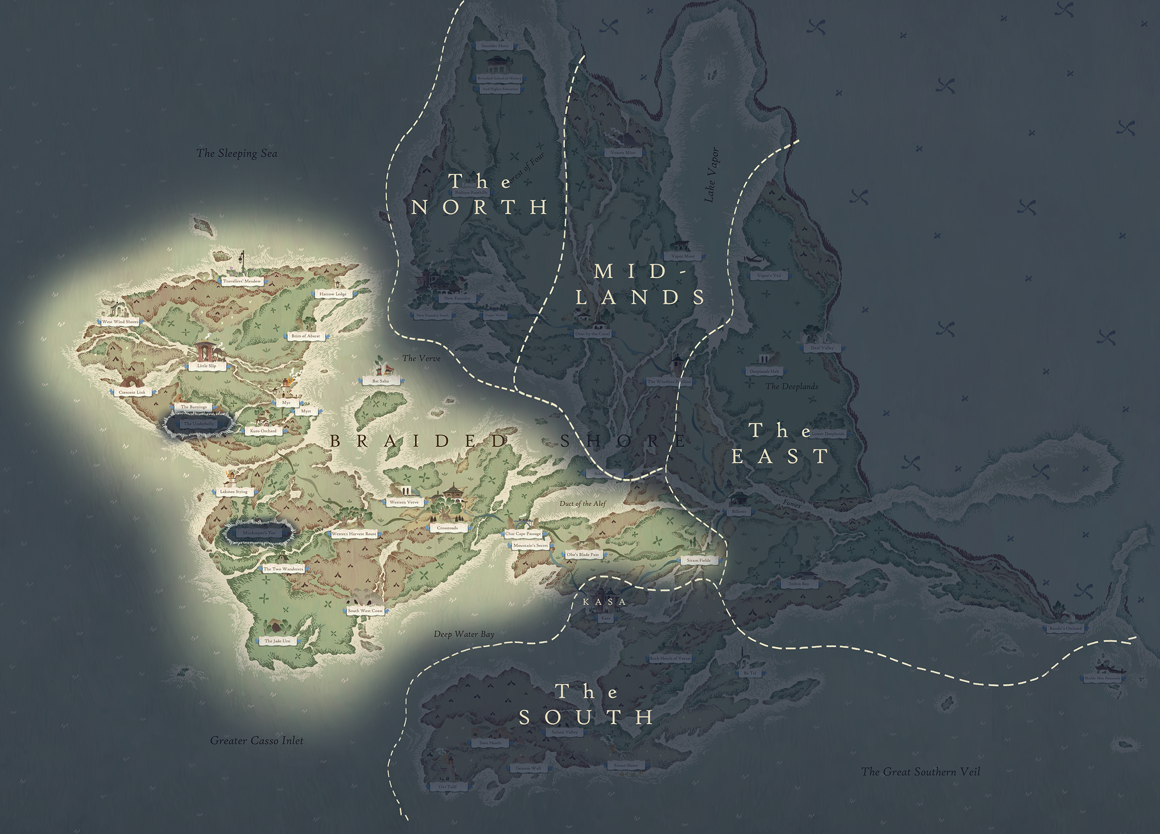 Book of Travels Shares Early Access Roadmap and World Map